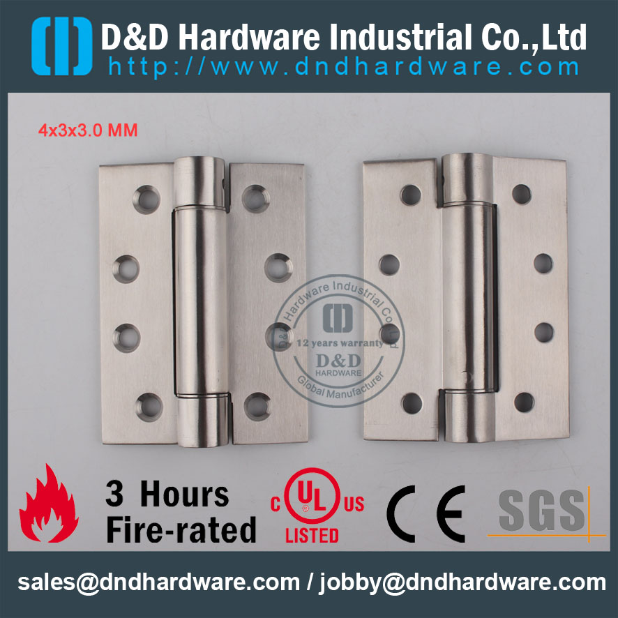 D&D Hardware-Door Ironmongery 4x3x3 Single Action Spring Hinge DDSS033