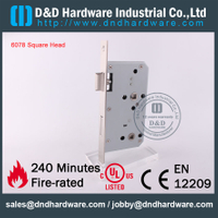 Stainless Steel 304 Fire Rated Bathroom Door Lock for Door with CE Certificate-DDML012