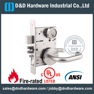 Sus304 Ansi Grade 1 Mortise Lock With Ul Listed For