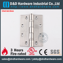 SUS304 Fire Rated 2 Ball Bearing Hinge with UL R38013 for Metal Door-DDSS005-FR-5x3.5x3.0mm