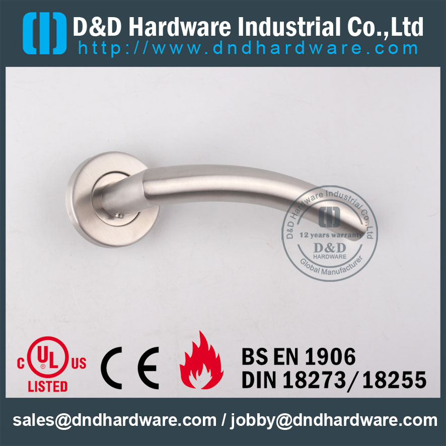 D&D Hardware-SS304 Hollow Door handle with Fire rated certificate DDTH008