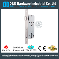 Stainless Steel 304 European Mortise Fire Rated Door Lock for Commercial Metal Door with CE-DDML026