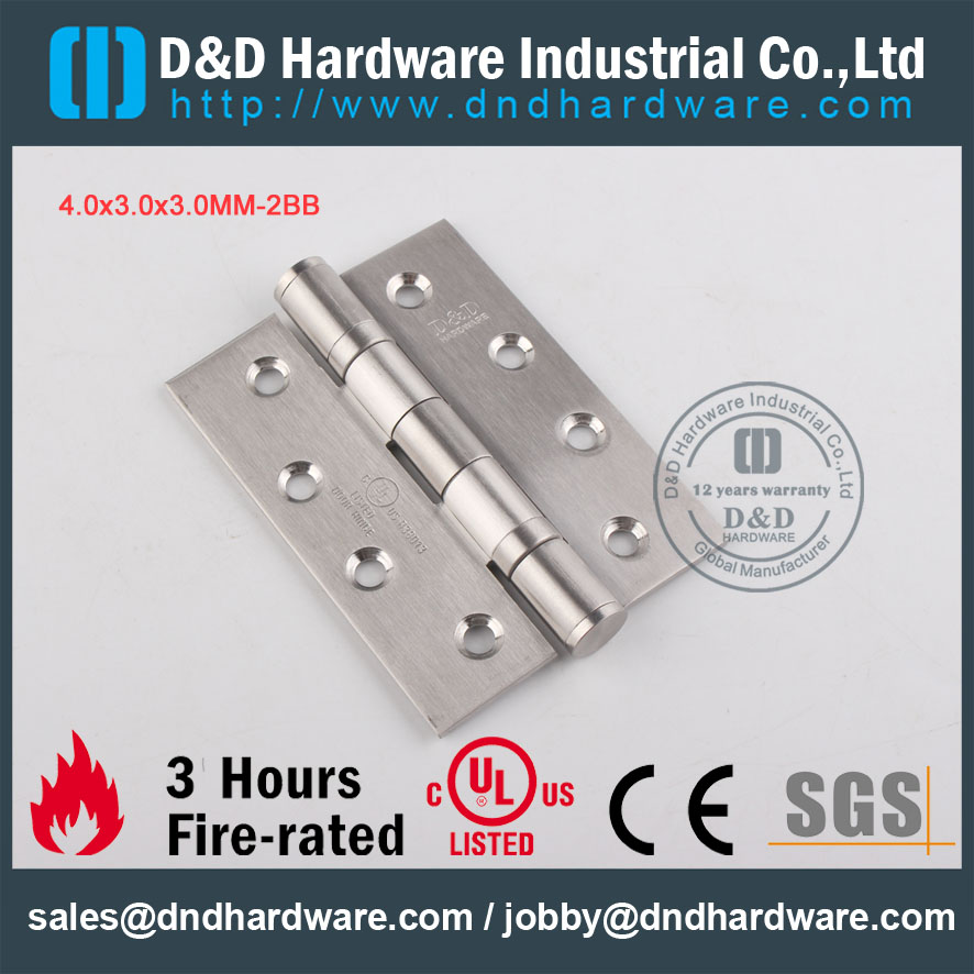 D&D Hardware-UL Stainless Steel 4x3x3-2BB Door hinge DDSS001
