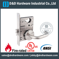 SSS304 Grade 1 ANSI/BHMA Mortise Lock for Exit Door - DDAL31 F31