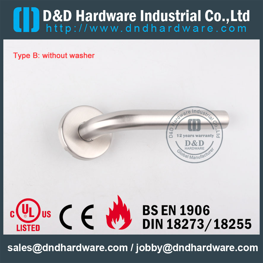 D&D Hardware-Door Tube lever handle without washer DDTH002