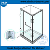 DDGH002-Stainless Steel 316 Glass to Glass Shower Hinges for interior Bathroom Door
