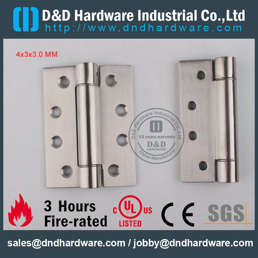 D&D Hardware-Fire Rated Door Single Action Spring Hinge DDSS033