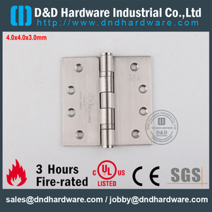 Stainless Steel 304 Fire Rated UL Ball Bearing Hinge for Metal Door-DDSS001-FR-4x4x3.0mm