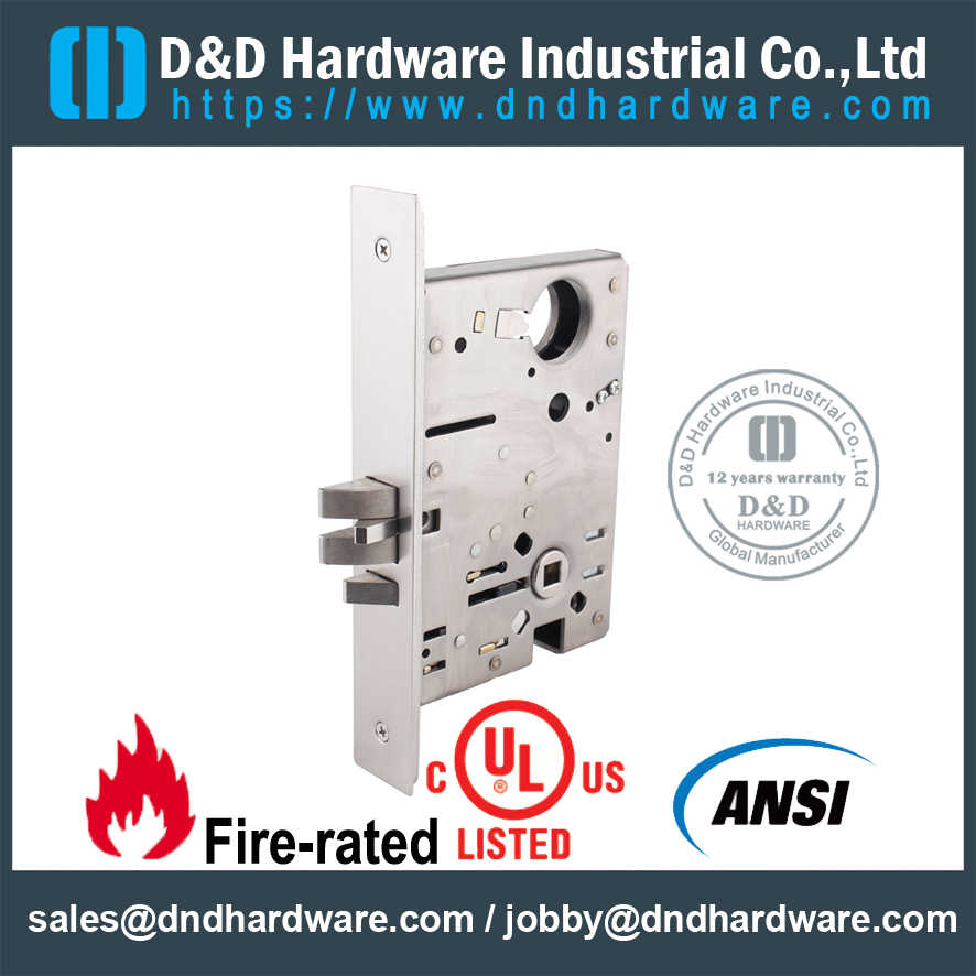 Stainless Steel Heavy Duty ANSI Latch Door Lock for Apartment Door-DDAL09 F09