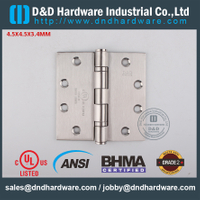 ANSI / BHMA GRADE 2-SSS316 Fire Rated 2BB Hinge with UL Listed for Metal Door-4.5x4.5x3.4mm