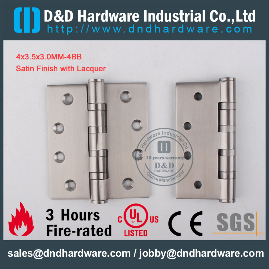 D&D Hardware-CE Certificate Fire Rated SS304 Door Hinge DDSS002