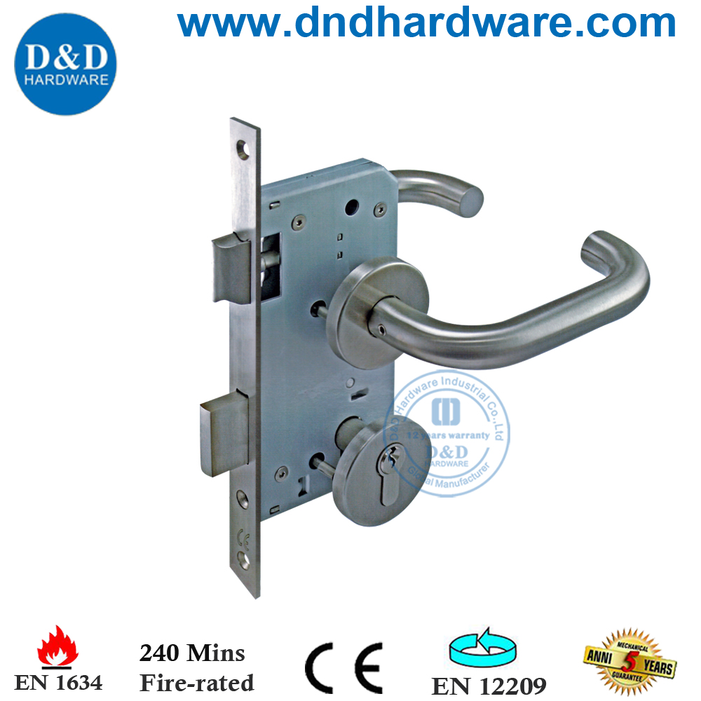 Stainless Steel 304 Night Latch Door Lock for External Door-DDML5572NL