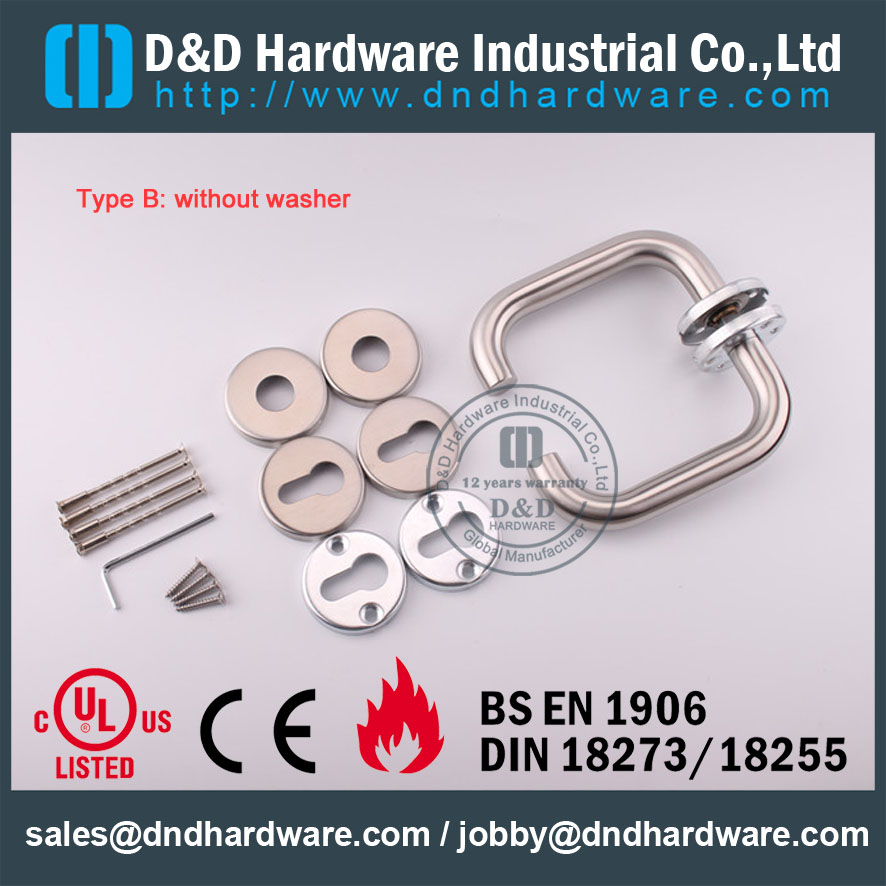 D&D Hardware-Fire Rated SS304 Tube handle DDTH001