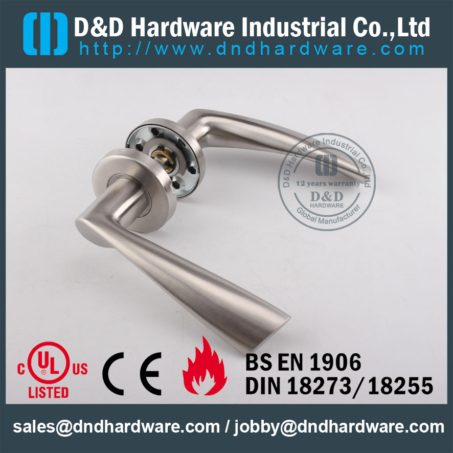 Investment Cast Solid Stainless Steel Lever Handle for External Doors -DDSH002