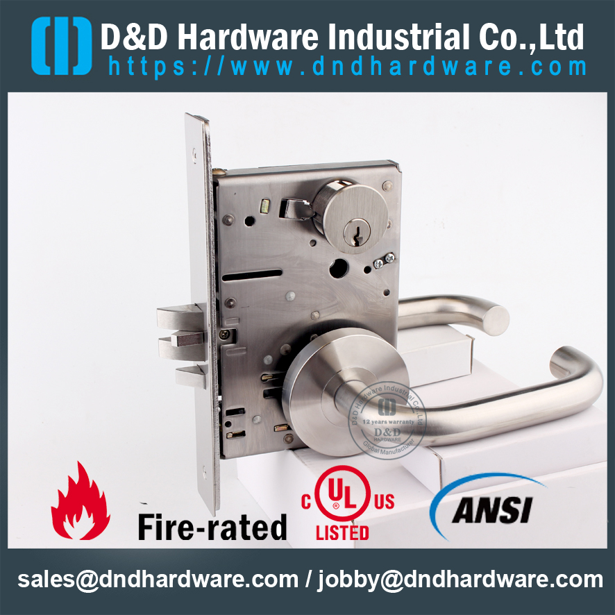 Sus304 Grade 1 American Standard Storeroom Locks For Wood