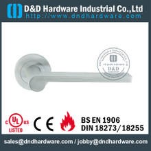 Stainless steel 304 rectangle tubular solid lever handle for Office Door- DDSH080