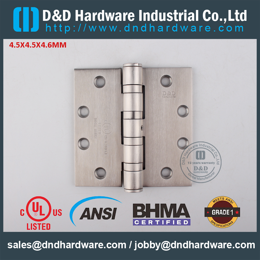 SUS201-Modern-UL-Fire-Rated-Ball-Bearing-Hinge-DD-