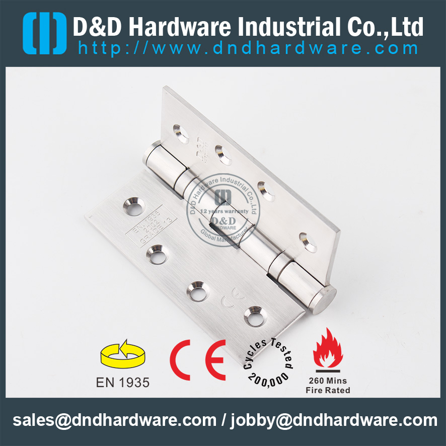 CE SS201 Fire Rated 2BB Door Hinge-DDSS001-4x3.5x3.0mm