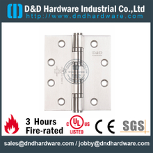 SSS304 Durable UL Fire Rated 4 Ball Bearing Hinge for Wood Door-DDSS008-FR-5x4.5x4.6mm