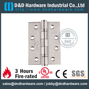 SS304 Two Ball Bearing Hinge for Wooden Door with UL CE Certificate-DDSS001-FR-4x3x3.0mm