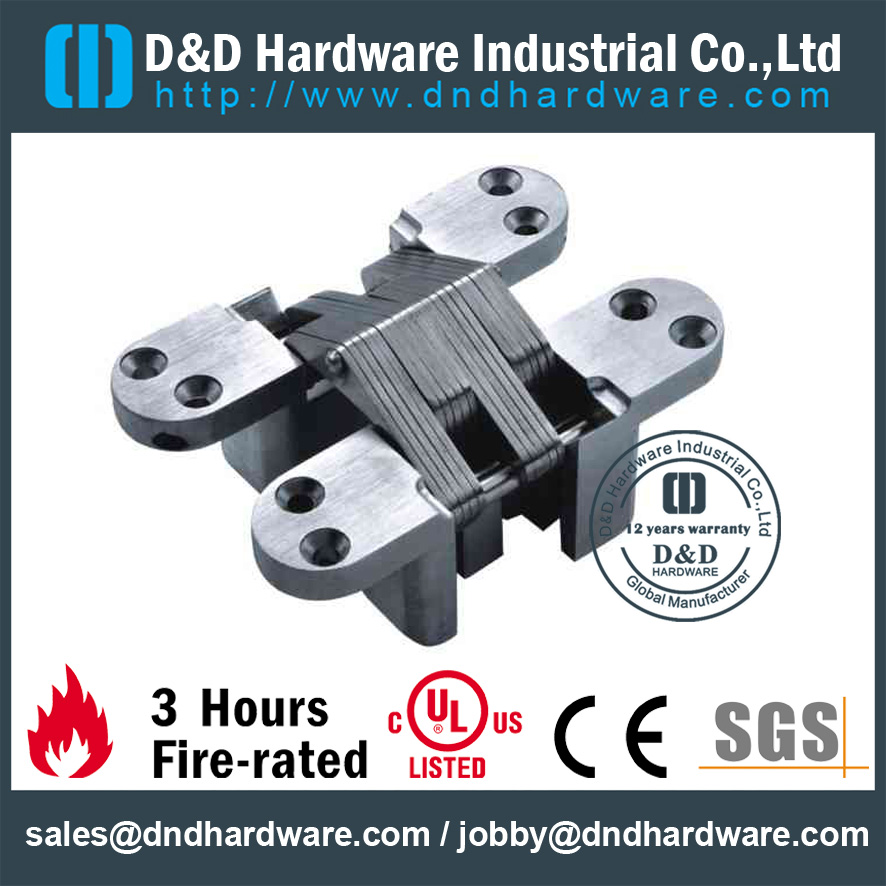 Zinc Alloy Partial Overlay Invisible Hinge-D&D Hardware