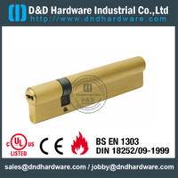 Euro Lock Cylinder in Double Open with 3 Yale Keys for Wooden Door-DDLC012