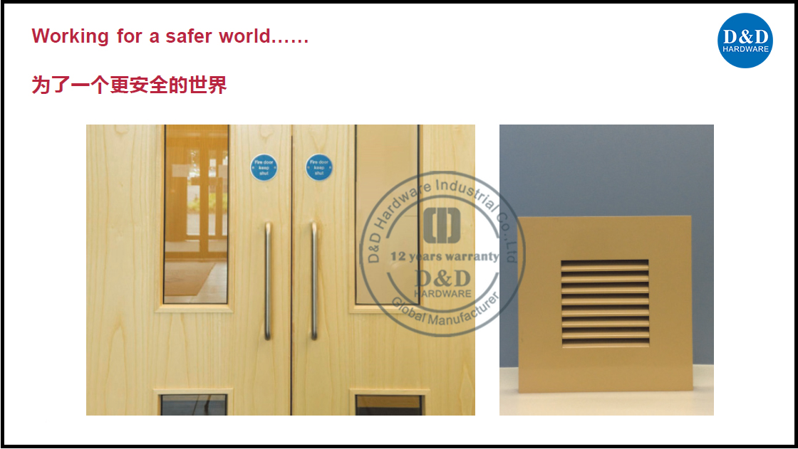 fire rated door hardware solution