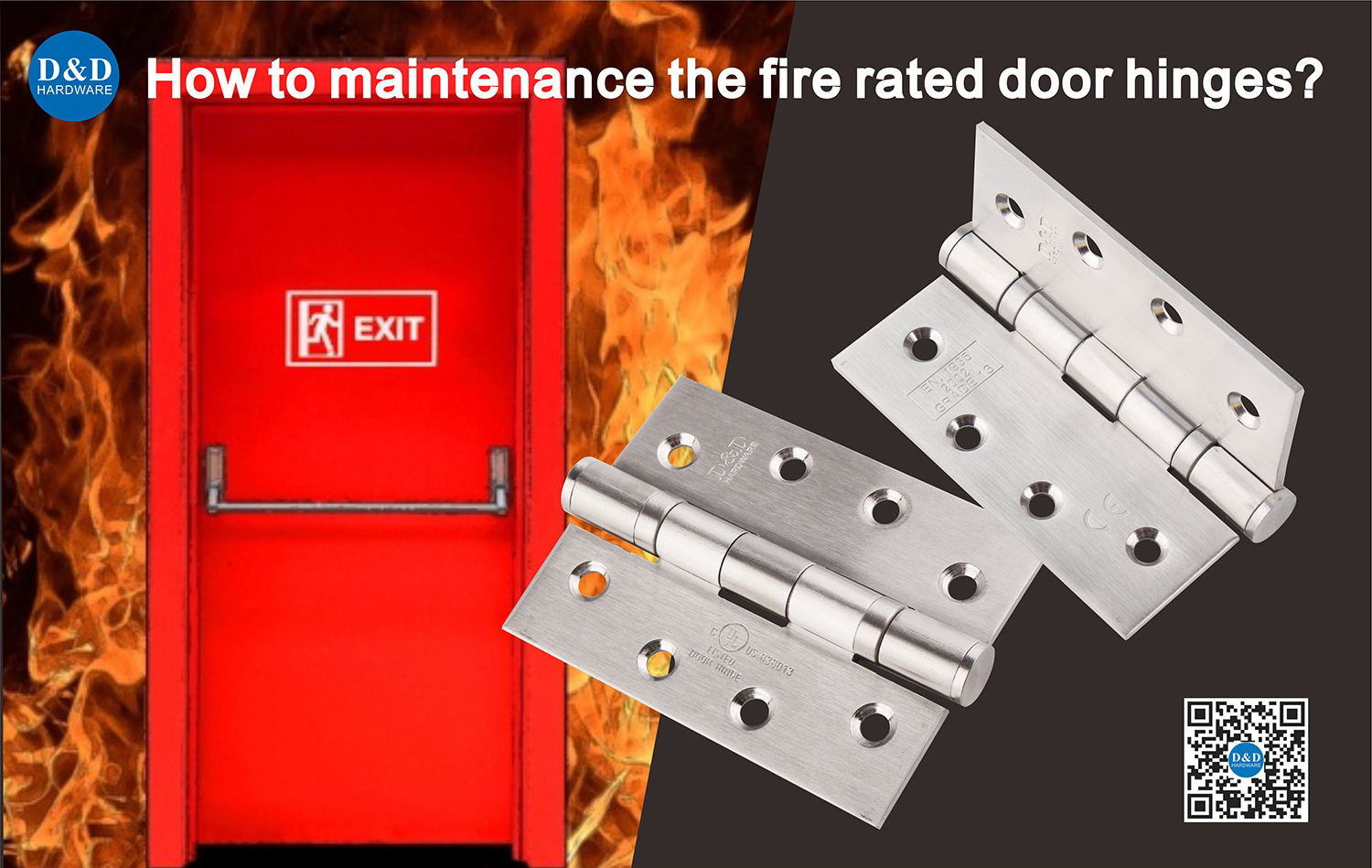 How to maintenance the fire rated door hinges?
