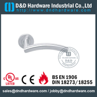 SS304 Hollow Bend Mitred Shape Fire Rated Door Handle for Steel Door with EN1906-DDTH008