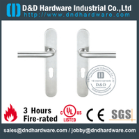 SS316 Tube L Shape Lever Handle with Backplate for Metal Door-DDTP003