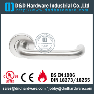 New Design Stainless Steel Lever Handle with Support Lugs