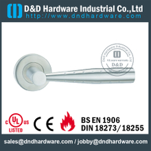 Designer Solid Lever Handle on Rose for Commercial Doors-DDSH067