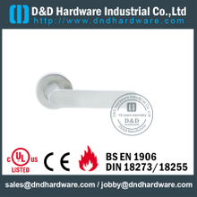 Stainless Steel 316 Designer Cast Lever Handle on Concealed Fix for Security Doors -DDSH009