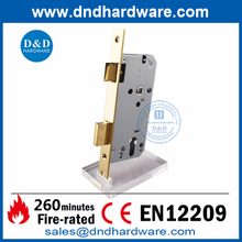SUS304 CE Polished Brass Mortise Lock for Entrance Door-DDML009