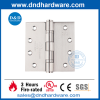 UL Certification SUS201 Fire Rated Full Mortise Door Hinge-DDSS001-FR-4X4X3