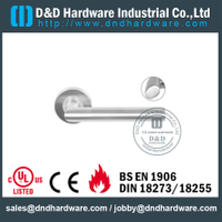 Stainless Steel 316 Modern Hollow Lever Handle for Exterior Commercial Door-DDTH026