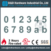 Grade 304 Durable High Quality Door Number Sign Plate For Commercial Door-DDSP013