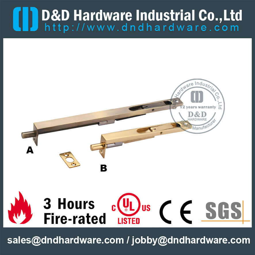 Brass Heavy Duty Flush Bolt for Internal Wooden Door-DDDB002