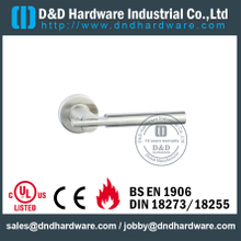 Chrome T Shape Internal Solid Lever Door Handle for Entrance Steel Doors -DDSH046