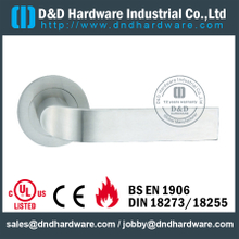 Stainless Steel Die-Casting Lever Handle on Rose for Hotel Doors-DDSH078
