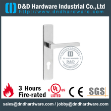Stainless Steel 304 Hollow Square Shape Handle with Plate for Office Door-DDTP004