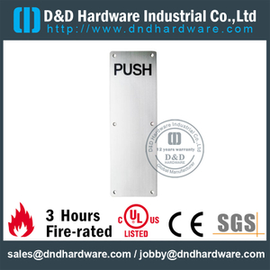 Stainless Steel 304 Square Push Plate for Outer Aluminum Doors-DDSP005