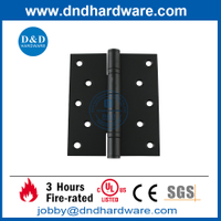 SS304 5x4x3.0mm Fire Rated Black Finish 2 Ball Bearing Door Hinge for Wooden Door -DDSS005