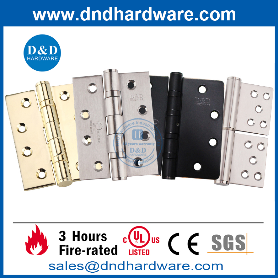 UL Stainless Steel 304 Fire Mortise Heavy Duty Door Hinge-DDSS006-FR