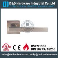 EN1906 SS Square Tube Lever Door Handle-DDTH101