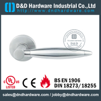 Stainless Steel Interior Designer Solid Lever Handle for Metal Doors-DDSH206