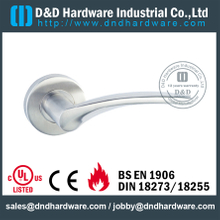 SSS304 beautiful crank solid lever handle for Entrance Door - DDSH164