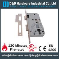 Stainless Steel Passage Door Lock with Dead Bolt for Commercial Door-DDML009- Square