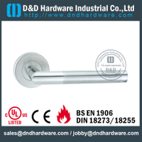 Stainless steel 304 round vertical door handle for Wooden Door- DDSH183