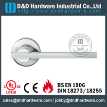 Grade 304 Solid Front Lever Door Handles for Fire Doors-DDSH073
